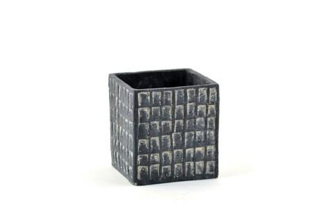 Vaso Esterno Grigio : Vaso quadrato ceramica grigio u2014 vasi in ceramica ambroso